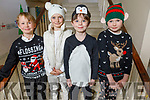 The students of Miss Siobhan's class getting ready for the Christmas play in Moyderwell NS on Thursday.<br /> Jack Stack, Toms Valbalodis, Cameron Houlihan and Vivienne Wawrzyniak.