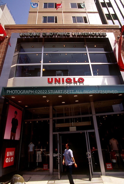 9/17/02--Tokyo, Japan..The Harajuku branch of leading discount clothing retailer, UNIQLO...All photographs ©2003 Stuart Isett.All rights reserved.This image may not be reproduced without expressed written permission from Stuart Isett.