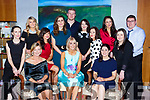 Moira Cronin Cullina NS Principal celebrated her retirement with her colleagues in the Aghadoe Hotel Killarney on Friday night front row Marie Murphy Lorraine Counihan, Siobhain Hayes, Michelle McLoughlin, Una Harmon. Back row: Lisa Stack, Jemma Doyle, Elaine McGuire, Pat Fitzgerald, Sandra Walsh, Catherine O'Shea and Donal O'Sullivan