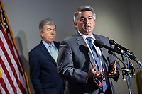 United States Senator Cory Gardner (Republican of Colorado) speaks to members of the media following GOP policy luncheons on Capitol Hill in Washington D.C., U.S., on Tuesday, June 9, 2020.  Credit: Stefani Reynolds / CNP/AdMedia