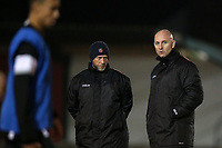 Hornchurch manager Mark Stimson (R) during AFC Hornchurch vs Great Wakering Rovers, BBC Essex Senior Cup Football at Hornchurch Stadium on 4th December 2018