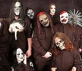 Slipknot Group Studio Portrait Session In Desmoines Iowa  2001.Photo Credit: Eddie Malluk/Atlas Icons.com