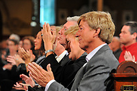 Montreal  (QC) CANADA - Oct 3 2009 -<br />  Gilles Duceppe, Pauline Marois and husband Claude Blanchette<br />  join  Family and PQ members to pay tribute filmmaker and separatist figure Pierre Falardeau, Oct 3rd 2009 at Saint-Jean-Baptiste church in Montreal. ,