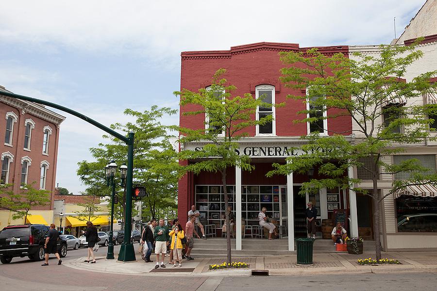 Symon's General Store in downtown Petoskey, Michigan, MI, USA