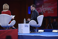 National Harbor, MD - March 5, 2016: U.S. Senator Marco Rubio listens to a question from CNN anchor Dana Bash before attendees at the 2016 Conservative Political Action Conference, hosted by the American Conservative Union, at the Gaylord National Hotel in National Harbor, MD, March 5, 2016.   (Photo by Don Baxter/Media Images International)