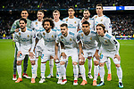 Players of Real Madrid line up and pose for a photo prior to the UEFA Champions League 2017-18 Round of 16 (1st leg) match between Real Madrid vs Paris Saint Germain at Estadio Santiago Bernabeu on February 14 2018 in Madrid, Spain. Photo by Diego Souto / Power Sport Images