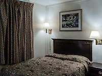 Cheap hotel room.