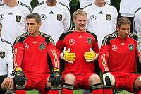 Torhueter Hans-Joerg Butt, Manuel Neuer, Tim Wiese<br /> WM-Team des DFB trainiert in der Commerzbank Arena *** Local Caption *** Foto ist honorarpflichtig! zzgl. gesetzl. MwSt. Auf Anfrage in hoeherer Qualitaet/Aufloesung. Belegexemplar an: Marc Schueler, Alte Weinstrasse 1, 61352 Bad Homburg, Tel. +49 (0) 151 11 65 49 88, www.gameday-mediaservices.de. Email: marc.schueler@gameday-mediaservices.de, Bankverbindung: Volksbank Bergstrasse, Kto.: 151297, BLZ: 50960101