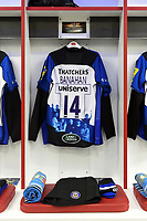 The jersey of Matt Banahan of Bath Rugby. The Clash, Aviva Premiership match, between Bath Rugby and Leicester Tigers on April 7, 2018 at Twickenham Stadium in London, England. Photo by: Patrick Khachfe / Onside Images