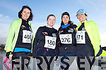 Lisa Reidy-Corrigan, Ailish Hughes, Sylwia Budnik and Jackie Moriarty at the Valentines 10 mile road race in Tralee on Saturday.