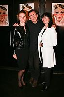 GERALD DAHAN entoure de sa femme CLAIRE & de sa mere MICHELLE- SPECTACLE 'DAHAN PRESIDENT' AU THEATRE DE L'ALHAMBRA A PARIS, FRANCE, LE 26/04/2017