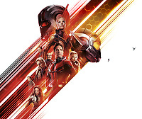 Ant-Man and the Wasp (2018) <br /> Promotional art with Paul Rudd, Evangeline Lilly, Michael Douglas, Michelle Pfeiffer, Hannah John-Kamen, Walton Goggins, Laurence Fishburne &amp; Michael Pena<br /> *Filmstill - Editorial Use Only*<br /> CAP/MFS<br /> Image supplied by Capital Pictures