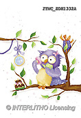 Marcello, CUTE ANIMALS, LUSTIGE TIERE, ANIMALITOS DIVERTIDOS, paintings+++++,ITMCEDH1332A,#AC#, EVERYDAY ,owls