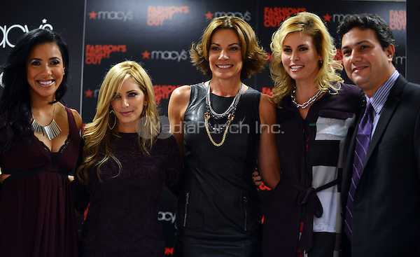 AVENTURA, FL - SEPTEMBER 06: Julissa Bermudez, Luciana Scarabello, Countess LuAnn De Lesseps and  Niki Taylor attend Fashion's Night Out Celebration at Macy's Aventura on September 6, 2012 in Aventura, Florida. (photo by: MPI10/MediaPunch Inc.)