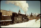 #483 Leading the Tank Train towards Cumbres<br /> D&amp;RGW  e. of Chama, NM  Taken by Gildersleeve, Thomas H.