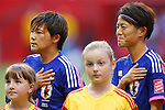 (L-R) Shinobu Ono, Saori Ariyoshi (JPN), JUNE 23, 2015 - Football / Soccer : <br /> FIFA Women's World Cup Canada 2015 round 16 match Japan 2-1 Netherlands at BC Place, Vancouver, Canada. (Photo by Yusuke Nakanishi/AFLO SPORT)
