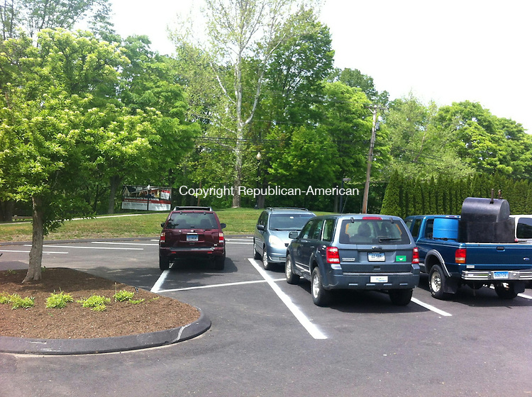 SOUTHBURY, CT. - 22 May 2015 - 052215CG01 - The newly paved and striped upper parking lot at Southbury Town Hall at 501 Main St. South. Chris Gardner Republican-American