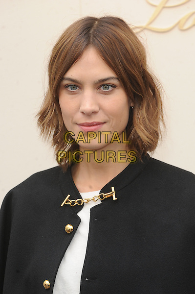 LONDON, ENGLAND - FEBRUARY 22: Alexa Chung attends the Burberry Prorsum Womenswear A/W 2016 fashion show on West Albert Lawns in Kensington Gardens on February 22, 2016 in London, England.<br /> CAP/BEL<br /> &copy;Tom Belcher/Capital Pictures