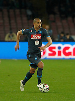 Gokhan Inler  during the Italian Serie A soccer match between   SSC Napoli and Atalanta  at San Paolo  Stadium in Naples ,March 22 , 2015<br /> <br /> <br /> incontro di calcio di Serie A   Napoli -Atalanta allo  Stadio San Paolo  di Napoli , 22  Marzo 2015