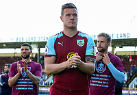 Burnley's Kevin Long applauds the fans during a lap of the pitch <br /> <br /> Photographer Alex Dodd/CameraSport<br /> <br /> The Premier League - Burnley v Bournemouth - Sunday 13th May 2018 - Turf Moor - Burnley<br /> <br /> World Copyright &copy; 2018 CameraSport. All rights reserved. 43 Linden Ave. Countesthorpe. Leicester. England. LE8 5PG - Tel: +44 (0) 116 277 4147 - admin@camerasport.com - www.camerasport.com