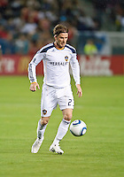CARSON, CA – April 2, 2011: LA Galaxy midfielder David Beckham (23) during the match between LA Galaxy and Philadelphia Union at the Home Depot Center, March 26, 2011 in Carson, California. Final score LA Galaxy 1, Philadelphia Union 0.