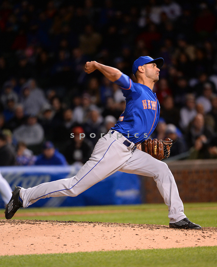 New York Mets Carlos Torres (52) during a game against the Chicago Cubs on May 13, 2015 at Wrigley Field in Chicago, IL. The Cubs beat the Mets 2-1.