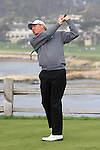 Fred Couples at the 7th Tee at Pebble Beach Golf Links. First Tee Open