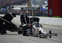 Sept. 30, 2012; Madison, IL, USA: NHRA top fuel dragster driver Bruce Litton during the Midwest Nationals at Gateway Motorsports Park. Mandatory Credit: Mark J. Rebilas-