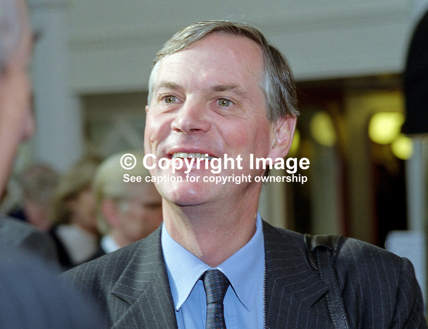 Lord Astor of Hever, hereditary peer, Conservative Party, annual conference, Blackpool, 1999, 199910101..Copyright Image from Victor Patterson, 54 Dorchester Park, Belfast, UK, BT9 6RJ..Tel: +44 28 9066 1296.Mob: +44 7802 353836.Voicemail +44 20 8816 7153.Skype: victorpattersonbelfast.Email: victorpatterson@mac.com.Email: victorpatterson@ireland.com (back-up)..IMPORTANT: If you wish to use this image or any other of my images please go to www.victorpatterson.com and click on the Terms & Conditions. Then contact me by email or phone with the reference number(s) of the image(s) concerned.
