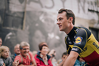 Fresh Belgian Champion Yves Lampaert (BEL/Quick Step Floors) at the Team presentation in La Roche-sur-Yon<br /> <br /> Le Grand D&eacute;part 2018<br /> 105th Tour de France 2018<br /> &copy;kramon