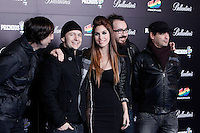 La Oreja de Van Gogh attends 40 Principales awards photocall  2012 at Palacio de los Deportes in Madrid, Spain. January 24, 2013. (ALTERPHOTOS/Caro Marin) /NortePhoto