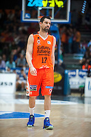 VALENCIA, SPAIN - OCTOBER 31: Rafa Martinez during ENDESA LEAGUE match between Valencia Basket Club and Rio Natura Monbus Obradoiro at Fonteta Stadium on   October 31, 2015 in Valencia, Spain