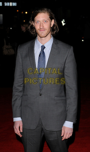 SAMUEL ROUKIN.attends the premiere for 'Bright Star' during the Times BFI 53rd London Film Festival at the Odeon Leicester Square, London, England,.October 19th 2009..half length suit beard facial hair blue tie grey gray .CAP/CAN.©Can Nguyen/Capital Pictures.