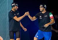 Gregorio Paltrinieri and Gabriele Detti<br /> 400 freestyle men<br /> day 02  09-08-2017<br /> Energy For Swim<br /> Rome  08 -09  August 2017<br /> Stadio del Nuoto - Foro Italico<br /> Photo Deepbluemedia/Insidefoto