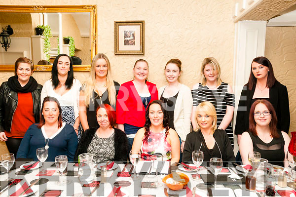 30th Birthday: Jenna Sloan, Listowel celebrating her 30th birthday with familly & friends at Eabha Joan's Restaurant, Listowel on Saturday night last. Front : Linda Greaney, Yvonne Kennedy, Jenna Sloan, Shelia Russell & Anne Marie O'Halloran. Back : Emma Moriarity, Shelia Sloan, Sharon Russell, Natelie & Jannene Coady, Laura O'Callaghan & Genna Foley.