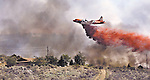 Firefighters used a number of airtankers and helicopters to fight the Andrew fire, near Reno, Nev., on Aug. 24, 2004..Photo by Cathleen Allison/Copyright Nevada Appeal.