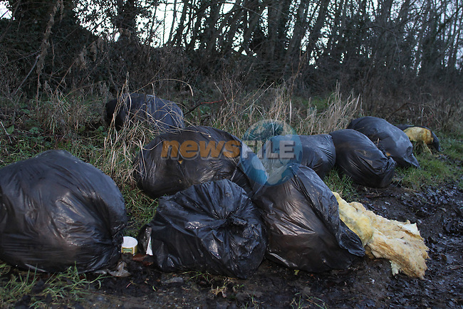 Rubbish dumped in Donore, Co.Meath...(Photo credit should read Jenny Matthews/www.newsfile.ie)....This Picture has been sent you under the conditions enclosed by:.Newsfile Ltd..The Studio,.Millmount Abbey,.Drogheda,.Co Meath..Ireland..Tel: +353(0)41-9871240.Fax: +353(0)41-9871260.GSM: +353(0)86-2500958.email: pictures@newsfile.ie.www.newsfile.ie.