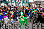 St Patrick pictured here at the Cahersiveen parade on Monday.