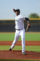 Seattle Mariners pitcher Pedro Vasquez (44) during an instructional league intrasquad game on October 6, 2015 at the Peoria Sports Complex in Peoria, Arizona.  (Mike Janes/Four Seam Images)