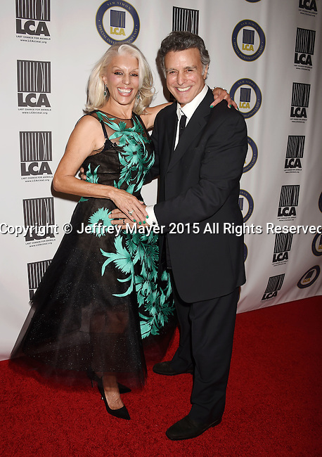 BEVERLY HILLS, CA - OCTOBER 24: Actress Shera Danese Falk (L) and Last Chance for Animals president & founder Chris DeRose attend the Last Chance for Animals Benefit Gala at The Beverly Hilton Hotel on October 24, 2015 in Beverly Hills, California.