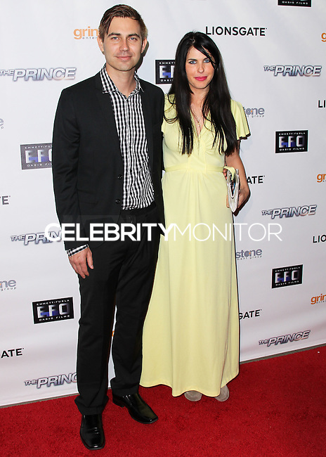 HOLLYWOOD, LOS ANGELES, CA, USA - AUGUST 18: Taylor Newton Stewart, Tama Leia Stewart at the Los Angeles Premiere Of Lionsgate Films' 'The Prince' held at the TCL Chinese 6 Theatre on August 18, 2014 in Hollywood, Los Angeles, California, United States. (Photo by Xavier Collin/Celebrity Monitor)