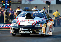 Oct. 5, 2012; Mohnton, PA, USA: NHRA pro stock driver Dave Connolly during qualifying for the Auto Plus Nationals at Maple Grove Raceway. Mandatory Credit: Mark J. Rebilas-