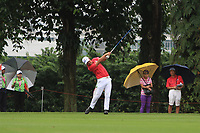 Hideto Tanihara (Asia) on the 16th fairway during the Friday Foursomes of the Eurasia Cup at Glenmarie Golf and Country Club on the 12th January 2018.<br /> Picture:  Thos Caffrey / www.golffile.ie