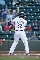 Keon Barnum (32) of the Winston-Salem Dash at bat against the Potomac Nationals at BB&T Ballpark on May 13, 2016 in Winston-Salem, North Carolina.  The Dash defeated the Nationals 5-4 in 11 innings.  (Brian Westerholt/Four Seam Images)