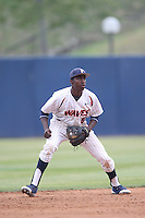 Manny Jefferson #5 of the Pepperdine Waves during a game against the BYU Cougars at Eddy D. Field Stadium on April 10, 2014 in Malibu, California. BYU defeated Pepperdine, 1-0. (Larry Goren/Four Seam Images)