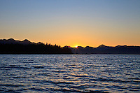 Sunset in the islands of Haida Gwaii, British Columbia, Canada.