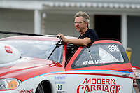 Sept. 1, 2012; Claremont, IN, USA: NHRA pro stock driver Kevin Lawrence during qualifying for the US Nationals at Lucas Oil Raceway. Mandatory Credit: Mark J. Rebilas-