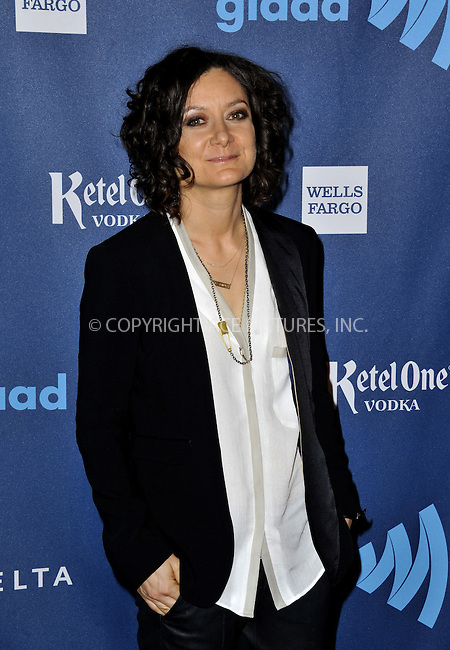 WWW.ACEPIXS.COM......April 20, 2013, Los Angeles, CA.....Sara Gilbert arriving at the 24th Annual GLAAD Media Awards held at the JW Marriott Los Angeles at L.A. LIVE on April 20, 2013 in Los Angeles, California. ..........By Line: Peter West/ACE Pictures....ACE Pictures, Inc..Tel: 646 769 0430..Email: info@acepixs.com