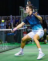 Rotterdam, The Netherlands, 12 Februari 2019, ABNAMRO World Tennis Tournament, Ahoy, first round wheelchair doubles: Joe Salisbury (GBR),<br /> Photo: www.tennisimages.com/Henk Koster