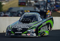 Jul, 21, 2012; Morrison, CO, USA: NHRA funny car driver Alexis DeJoria during qualifying for the Mile High Nationals at Bandimere Speedway. Mandatory Credit: Mark J. Rebilas-